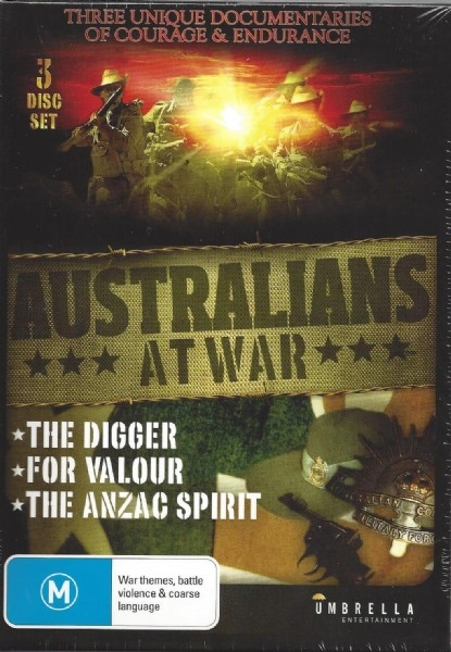 Australians At War Collection:  The Digger, For Valour, The Anzac Spirit - DVD
