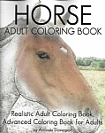 Horse Adult Coloring Book: Realistic Adult Coloring Book, Advanced Coloring Book for Adult