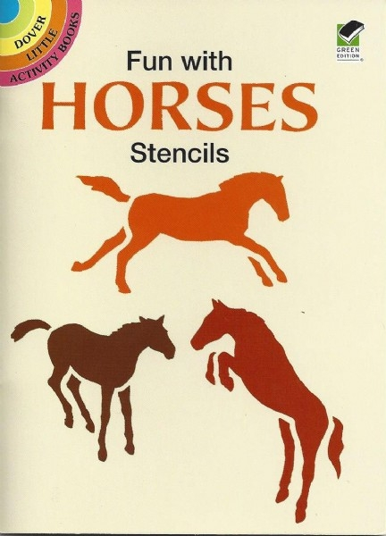 Fun with Horses Stencils - Dover Little Activity Books - PB