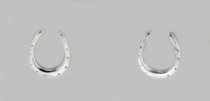 Horseshoe Pierced Ear - Silver - Earrings