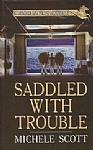 Horse Lover's Mystery01 - Saddled With Trouble - HB - Large Print