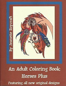 An Adult Coloring Book:  Horses Plus - PB