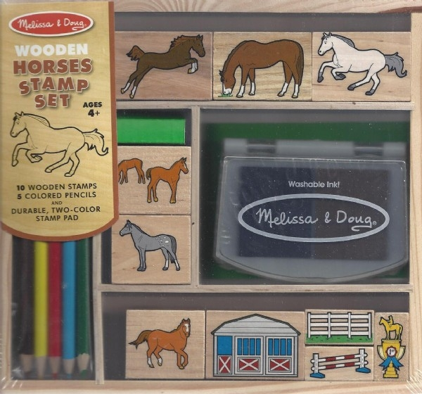 Wooden Horses Stamp Set